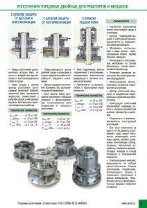 Уплотнения торцевые двойные для реакторов и мешалок